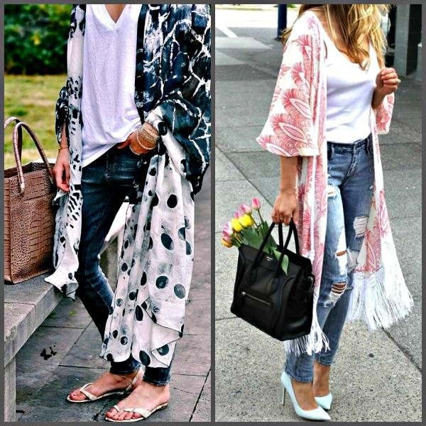 Kimonos con jeans