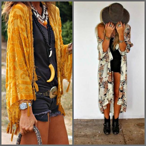 Kimonos con shorts