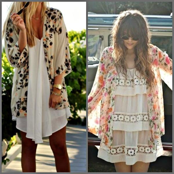 Kimonos con vestido boho