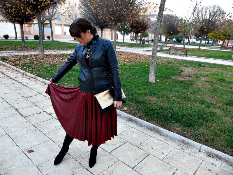 falda midi invierno