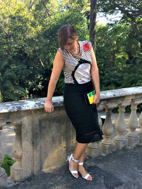 falda midi pimavera-otoño