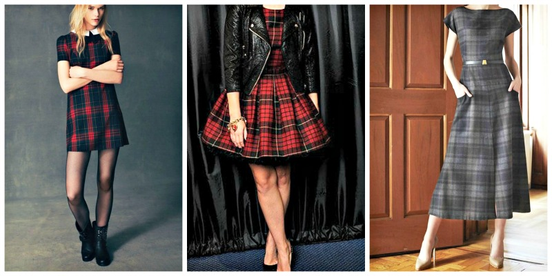 tartan: vestidos