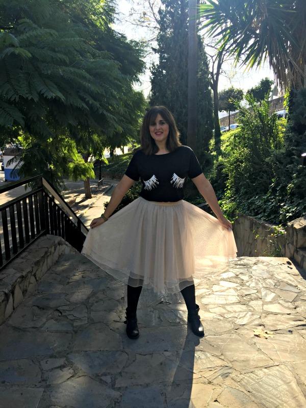 falda de tul casual