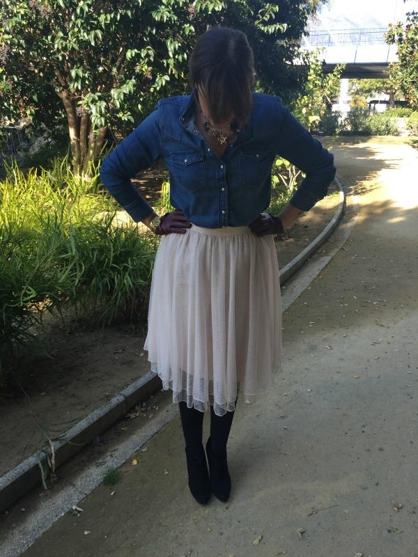falda de tul chic
