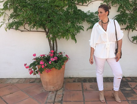 LOOK TOTAL WHITE: CASUAL & CHIC